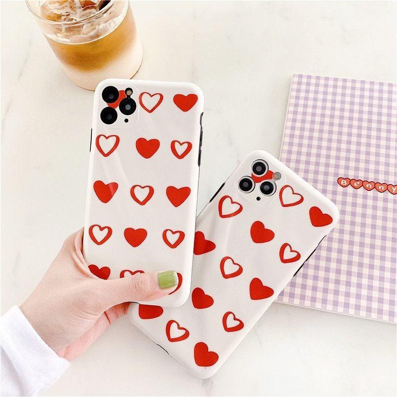 cute iphone case with red heart-wholesale