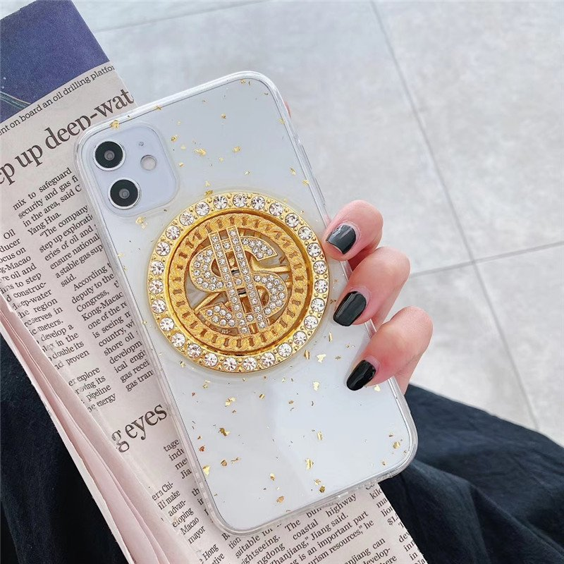 clear iphone 11 case with golden embellishment
