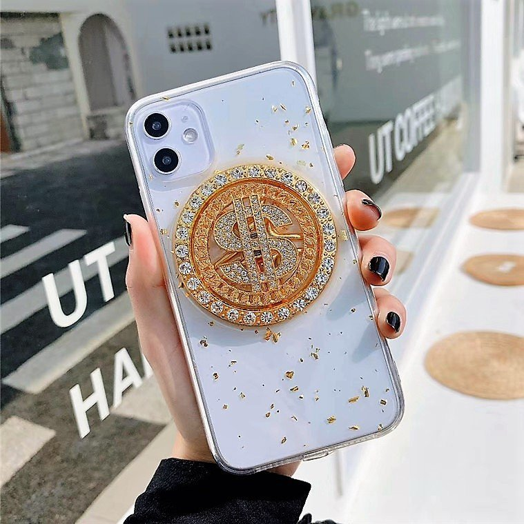 phone case manufacturer-clear case with dollor spin