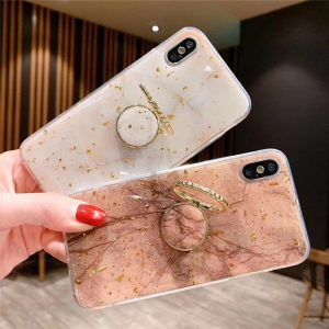 phone case manufacturer - iphone case with grip ring in shiny gold