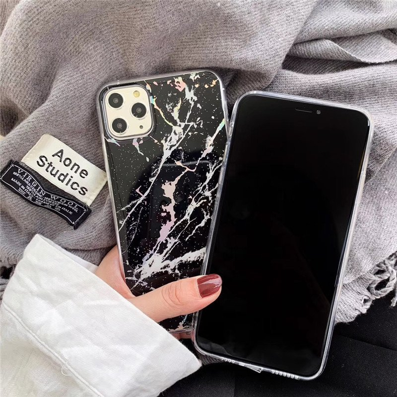 iphone case supplier - black marble iphone 11