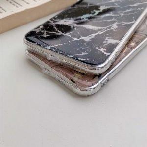 iphone case wholesaler-black marble iphone 11 case