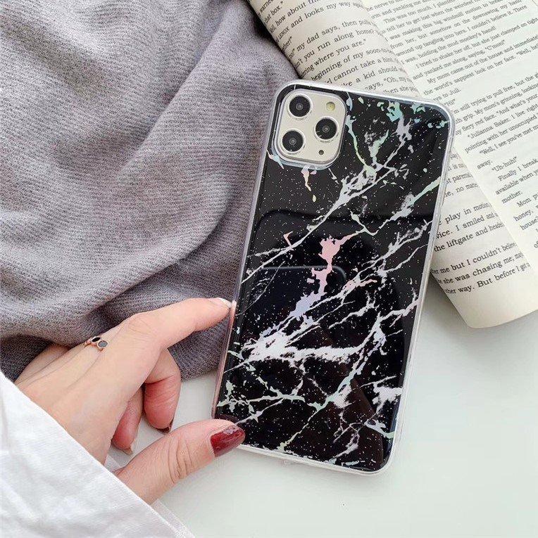 phone case manufacturer - black marble iphone 11 case
