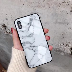 white marble case for iphone 11/x