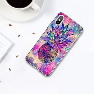 wholesale clear phone case - colorful pineapple iphone case