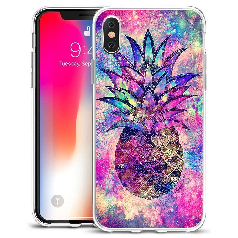 wholesale clear phone case - colorful pineapple
