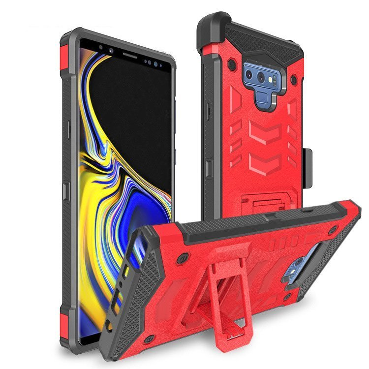 wholesale samsung phoen cases - armor case-red