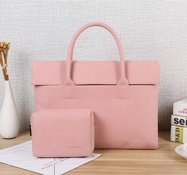 custom laptop handbag pink