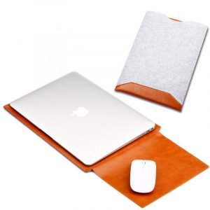 camel leather macbook pro sleeve bag