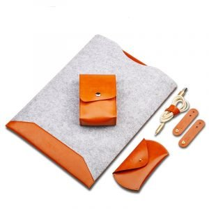 camel leather macbook sleeve for pro and air
