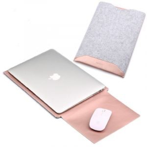 rosegold leather macbook sleeve bag for air pro