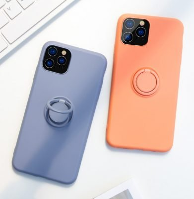 silicon iphone 11 cover with ring grip wholesale