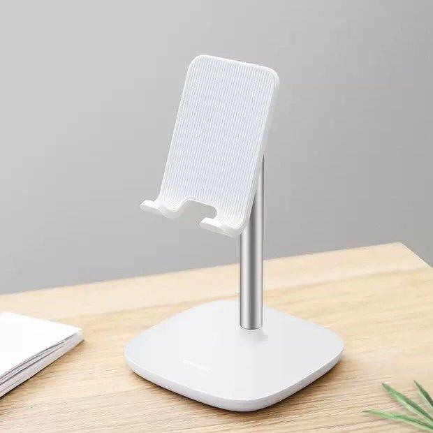 white phone holder