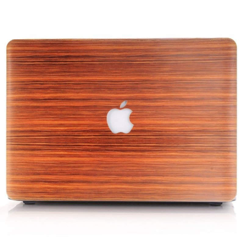 custom macbook case, wood grain