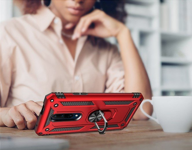 oneplus 7 pro rugged case with ring stand