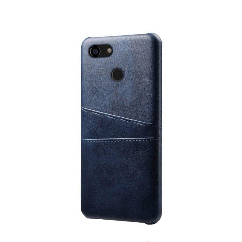 google pixel 3 leather case navy color