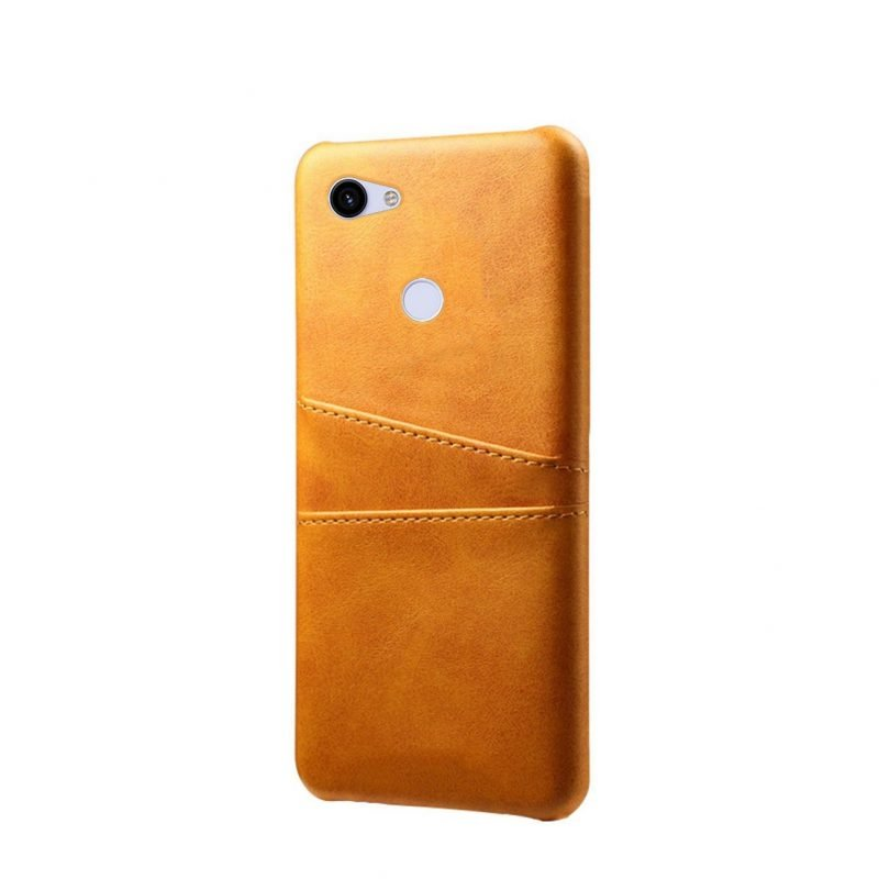 google pixel 3a / xl phone case camel leather camel