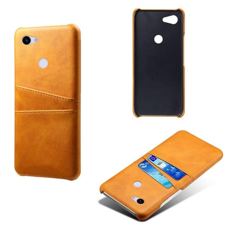 google pixel 3a phone case camel leather