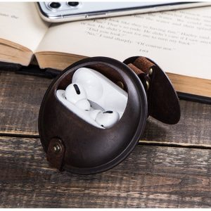 wholesale leather airpod case, vintage
