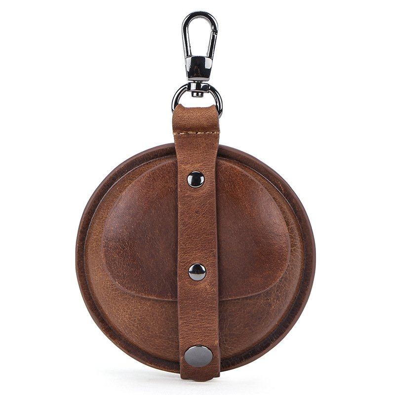 leather airpod case, wholesale, coffee