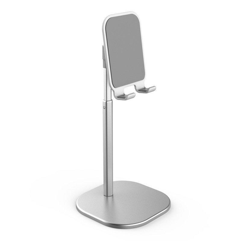 silver desktop phone holder