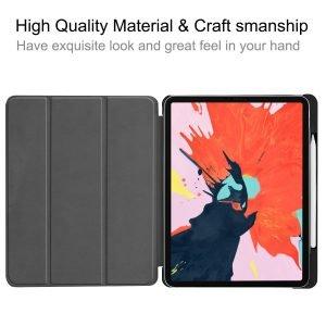 smart ipad case with pencil slot-navy
