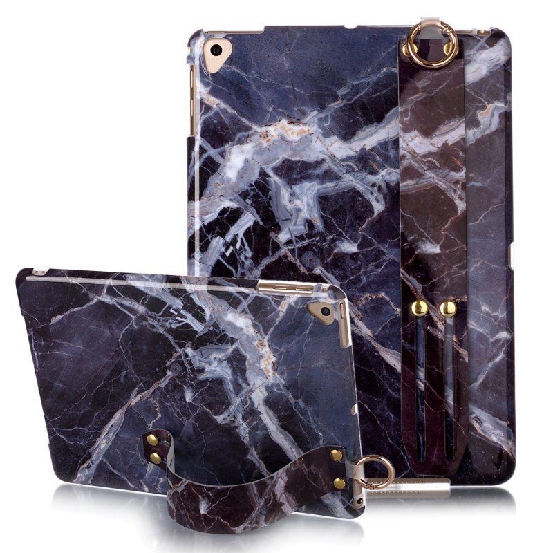 fashion marble ipad case - grip band