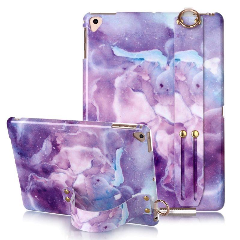 wholesale fashion ipad case - purple flower