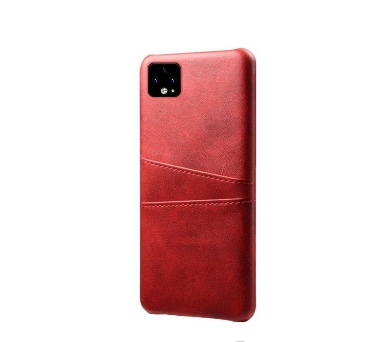 google pixel 4 case wallet, leather red