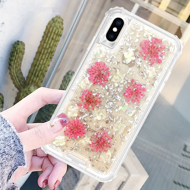 iphone xs max phone case, glittering, floral