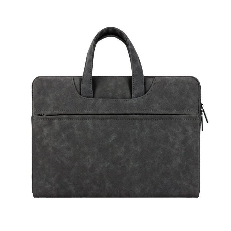 wholesale laptop bag - leather- black