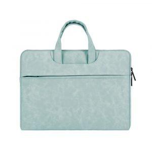 wholesale laptop bags for women- leather-blue