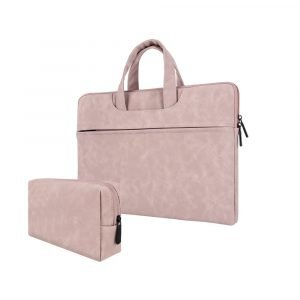 wholesale laptop bag with pouch - pink