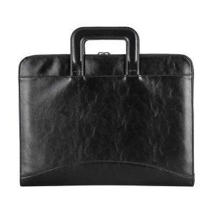 wholesale leather laptop bag -black