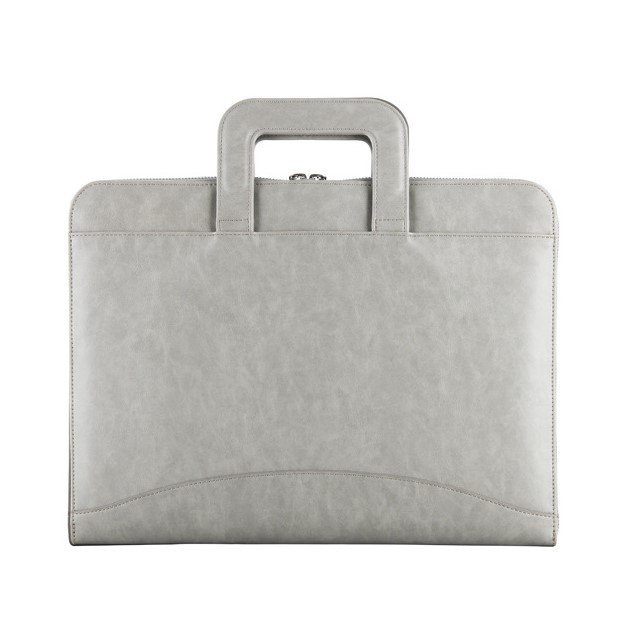 wholesale leather laptop bag - grey