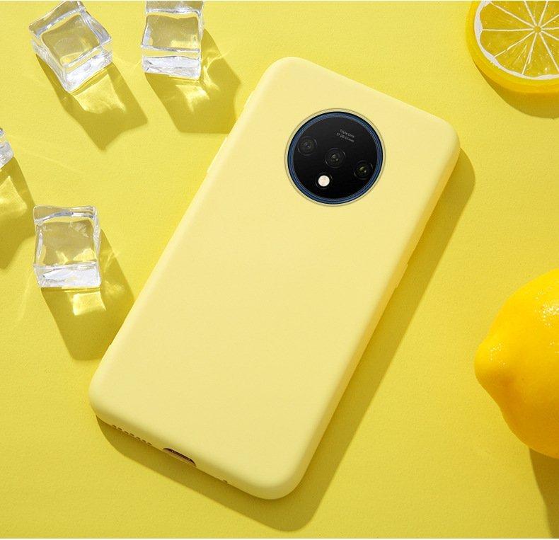 oneplus 7 silicone case lemon yellow