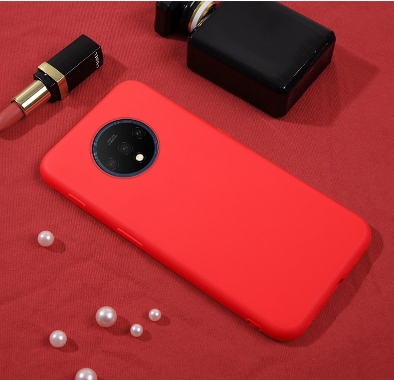 oneplus 7 / 7t/ 7 pro silicone case, red