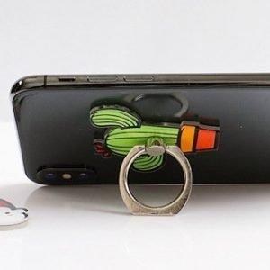 custom phone grip ring, cactus