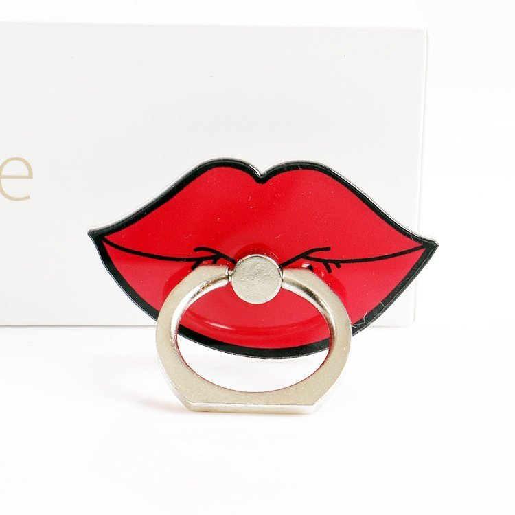 wholesale phone grip and stand, red lips