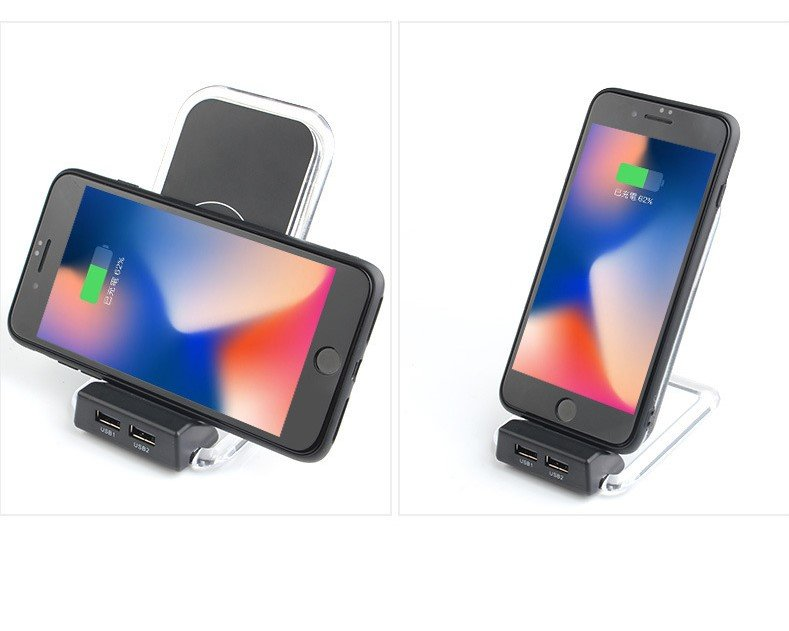 wireless & USB charger, phone charging stand