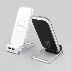 wireless & USB phone charger, phone stand holder