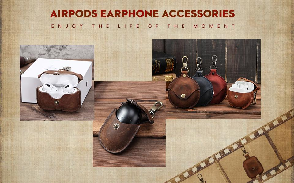 leather airpods and airpods pro case