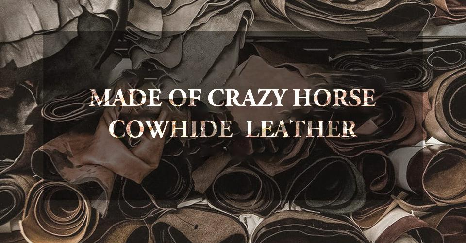 crazy horse leather airpods case