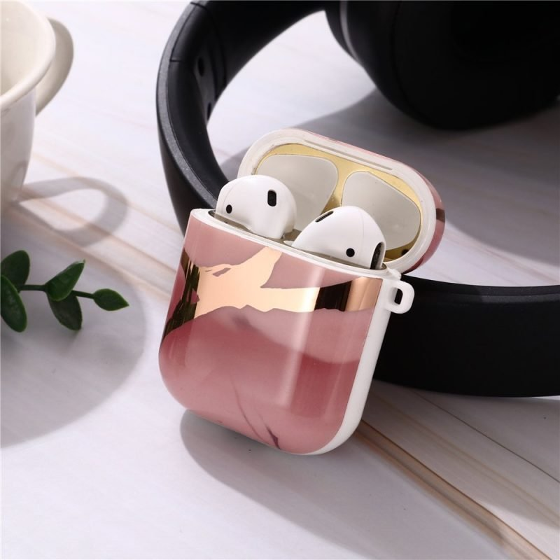 wholesale marble airpods cover, rosegold, wholesale