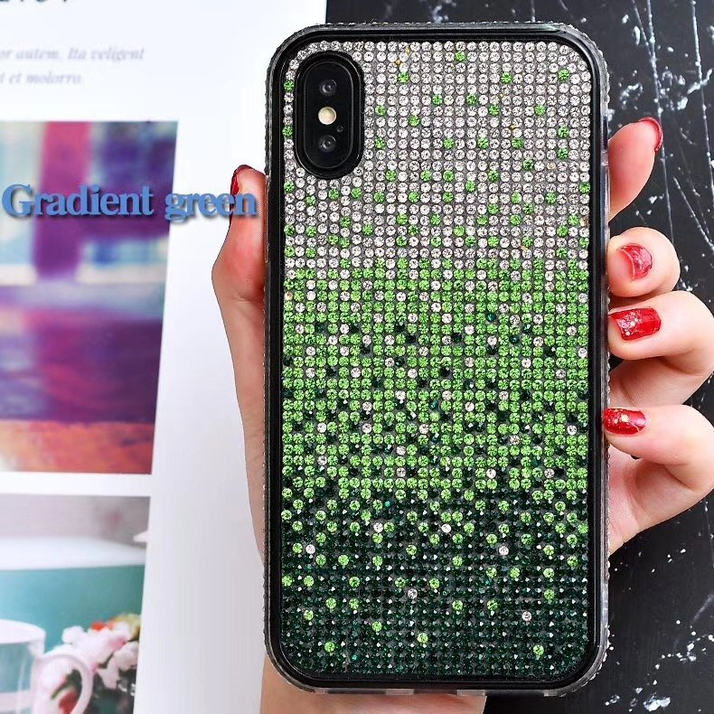 wholesale bling cell phone case - green glitter case