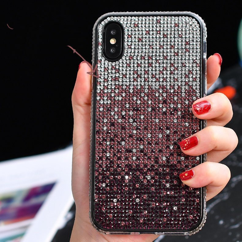 wholesale bling iphone cover, purple