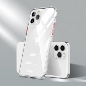 quality clear iphone cases - red button - bulk wholesale supplier - LOVINGCASE