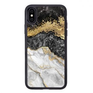 marble iphone case with golden shimmer