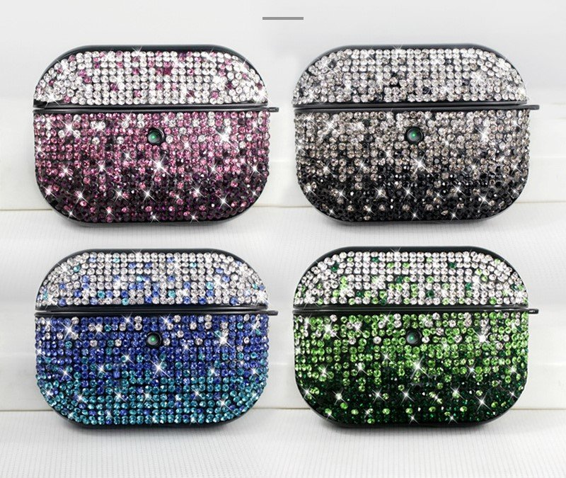glitter rhinestone aripods pro case / cover, lovingcase
