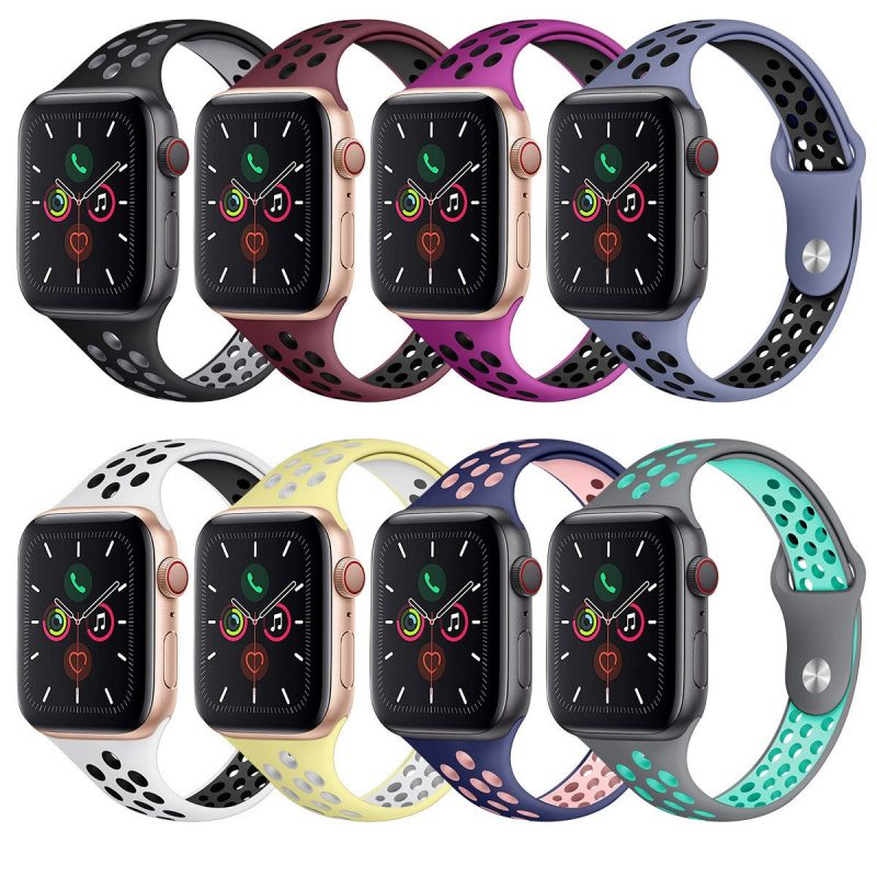 sporty style silicone apple watch bands wholesale